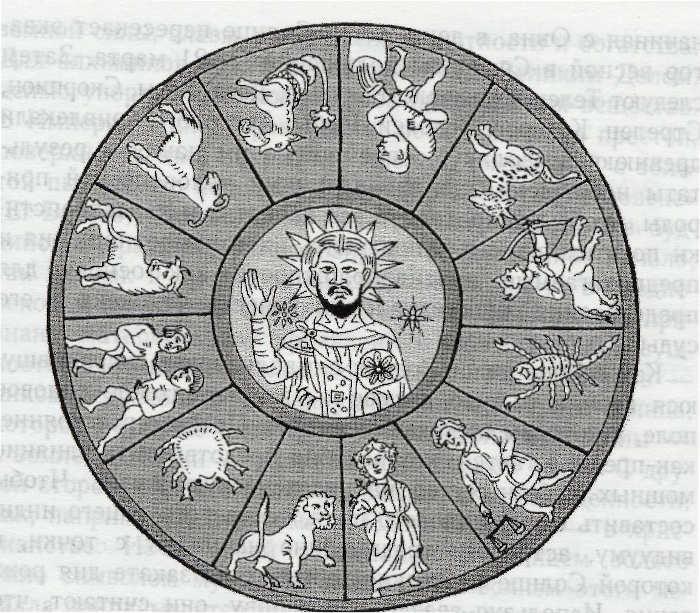 Христос в центре Зодиака, Северная Италия, 11 век