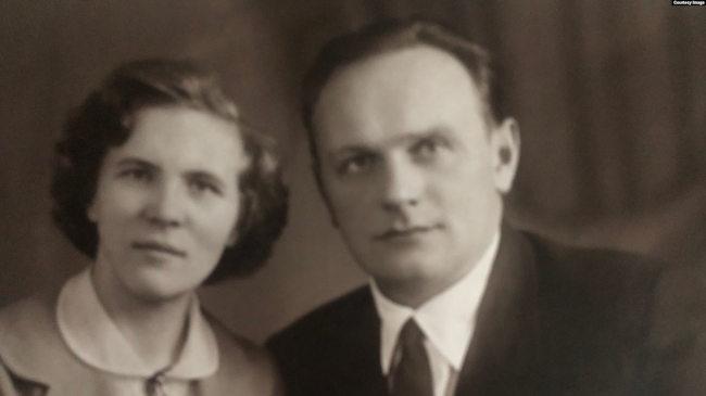 Людмила Веселова (Васильева) с мужем Георгием