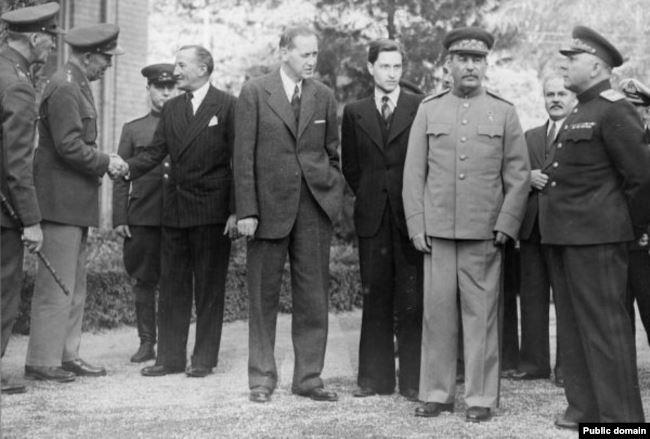 Сталин на Тегеранской конференции