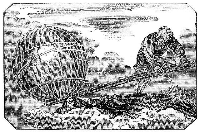 Архимед, переворачивающий Землю с помощью рычага