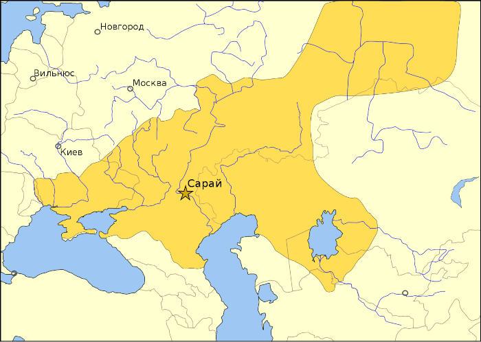 Золотая Орда около 1389 года